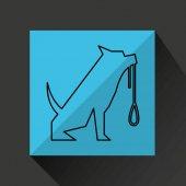 home pet dog leash icon