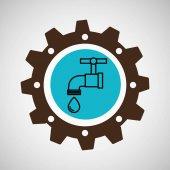 symbol environment gear tap water