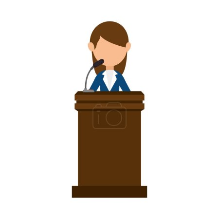 Conference pulpit isolated icon
