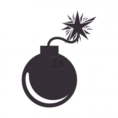 Boom danger isolated icon