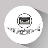 music cassette vintage background desgin