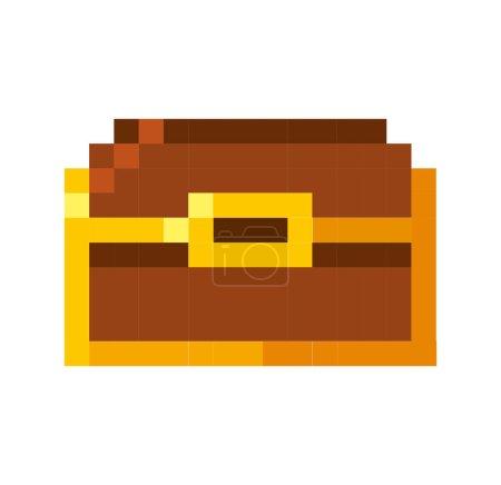 treasure chest pixelated icon