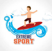 man surfin on wave extreme sport