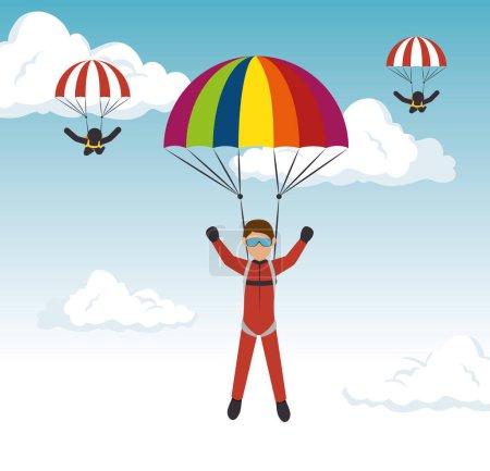 parachutist man extreme sport