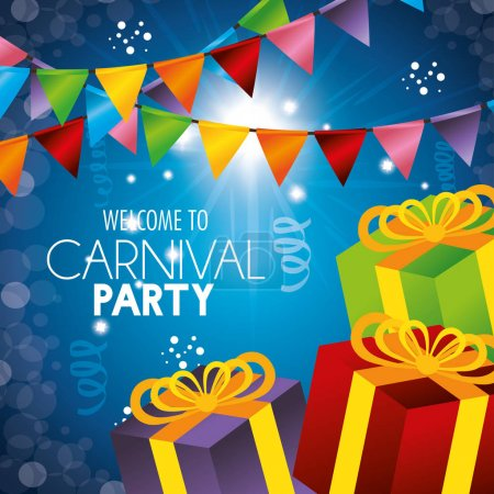 welcome carnival party gifts garlands confetti