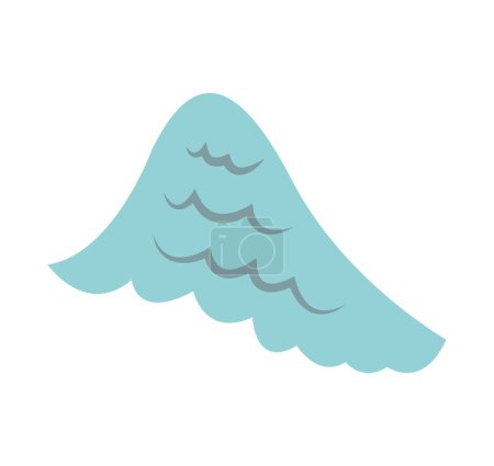 angel wing isolated icon