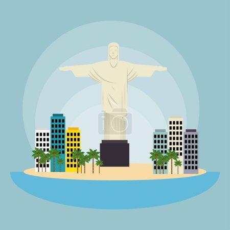 monument christ brazil urban landscape