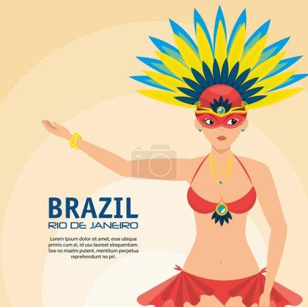 poster brazil rio de janeiro garota presenting