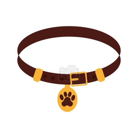 Pet collar isolated icon