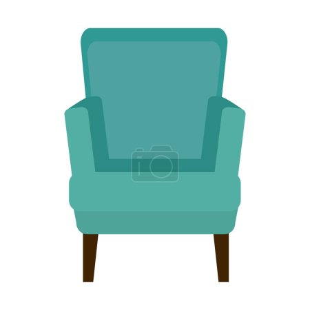 Illustration for Chair confortable isolated icon vector illustration design - Royalty Free Image
