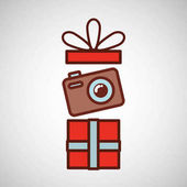 Otcové den dárek fotoaparát ikona designu