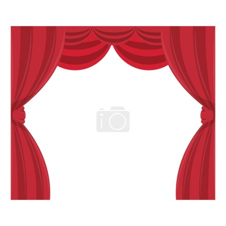 Illustration for Curtain cinema isolated icon vector illustration design - Royalty Free Image