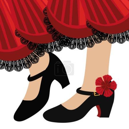 Traditional flamenco shoes icon