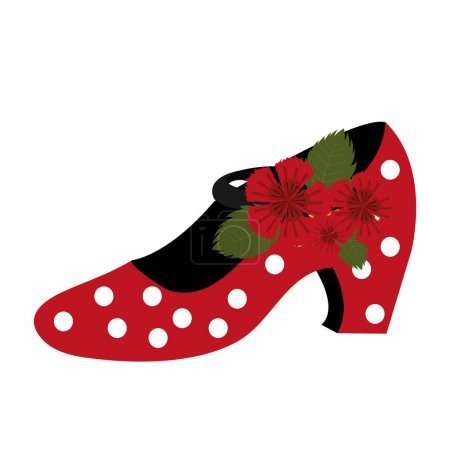 Illustration for Traditional flamenco shoes icon vector illustration design - Royalty Free Image