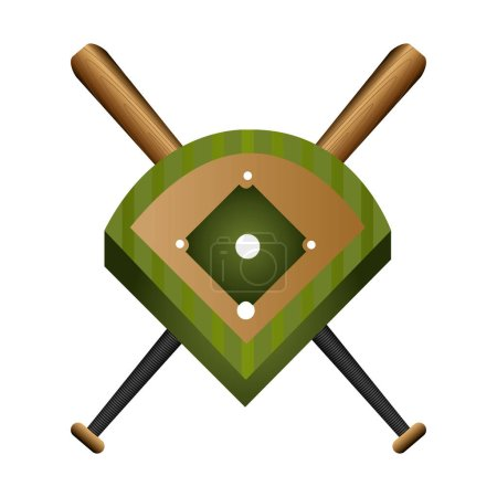 baseball field diamond form icon graphic