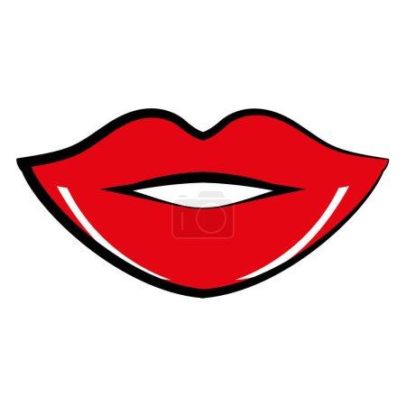 lips comic pop art