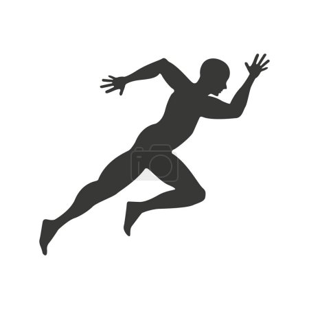 Athlete running character icon