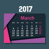 Kalender März 2017 Vorlage Symbol