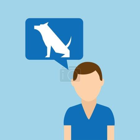 character pet training dog still