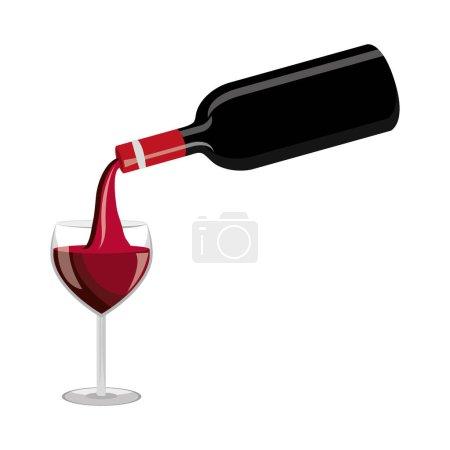 Illustration pour Délicieuse coupe de vin boisson vectoriel illustration conception - image libre de droit