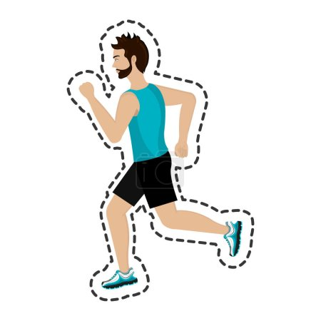 Athlete running isolated icon