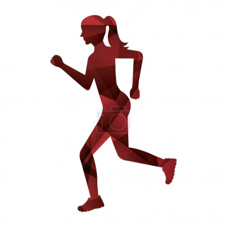 athlete running isolated icon