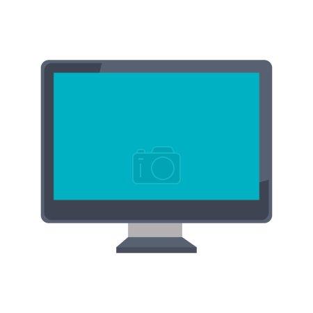 Illustration pour Ordinateur ordinateur ordinateur icône vectoriel illustration design - image libre de droit