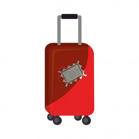 Illustration for Suitcase travel isolated icon vector illustration design - Royalty Free Image