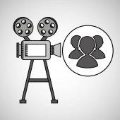 camera film vintage with movie group s