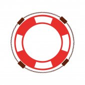 life guard float isolated icon