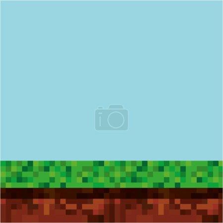 game scene pixelated background