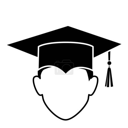 student graduation uniform icon