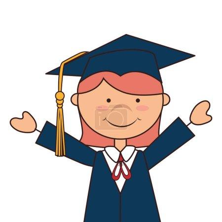 Student graduation uniform icon