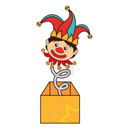 Illustration for Surprise box fools day vector illustration design - Royalty Free Image