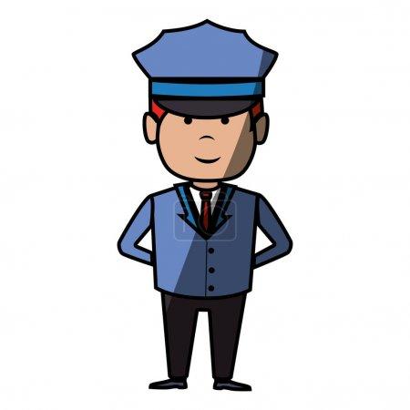 Illustration pour Conducteur hôtel service isolé icône vecteur illustration conception - image libre de droit