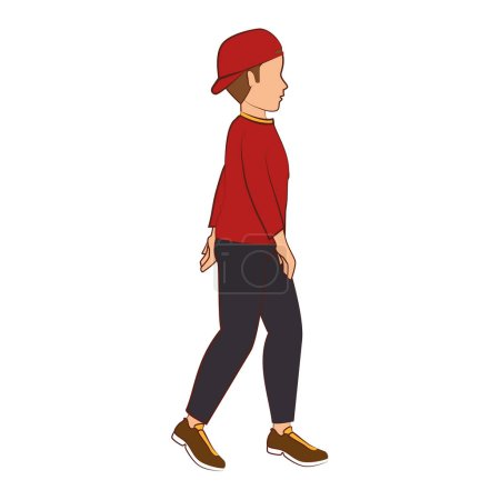 Illustration for People walking isolated icon vector illustration design - Royalty Free Image