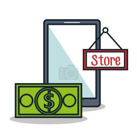 Illustration pour Commerce électronique ligne plate icônes vectoriel illustration design - image libre de droit