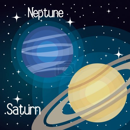 Illustration for Astronomy system solar planets isolated vector illustration eps 10 - Royalty Free Image