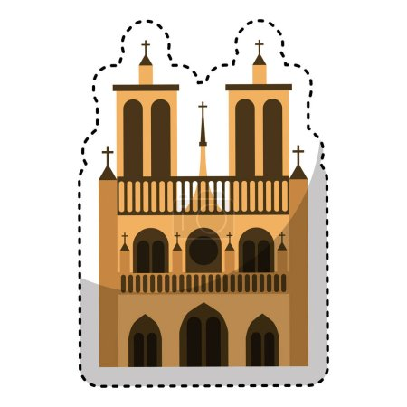 catedral church isolated icon