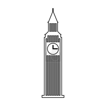 big ben building isolated icon
