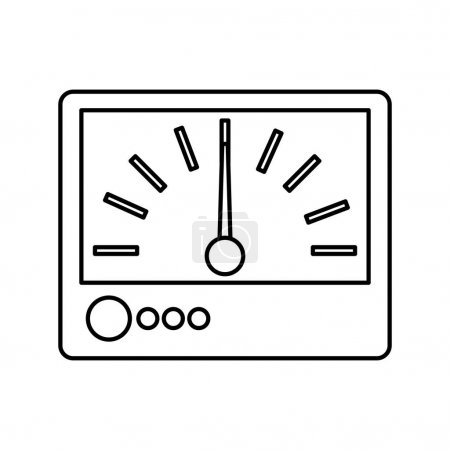 Electrical multimeter isolated icon