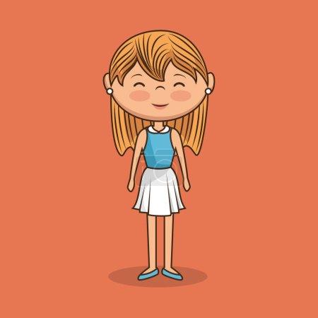 Illustration pour Belle dame caractère icône vector illustration design - image libre de droit