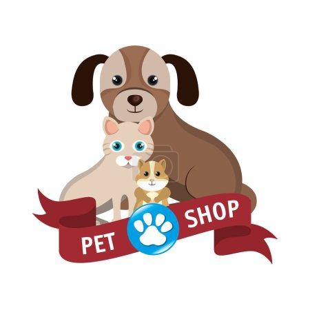 Pet shop center icon vector illustration design...