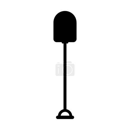 Illustration pour Outil de jardinage pelle icône vectoriel illustration design - image libre de droit