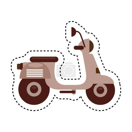 scooter motorcycle isolated icon