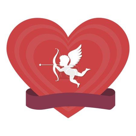 cupid angel love card