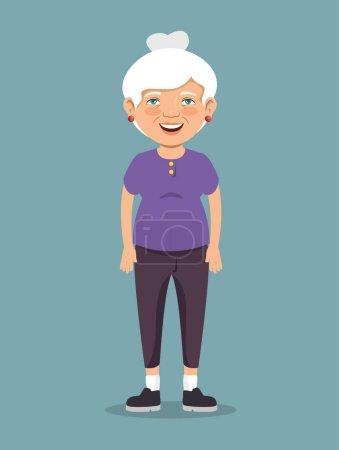 Großmutter mit Sportkleidung