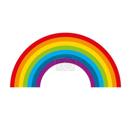 cute rainbow isolated icon