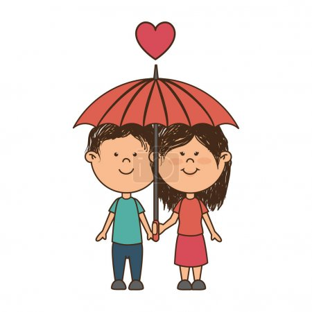 couple love card icon