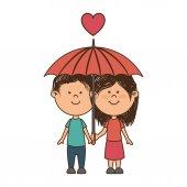 couple love card icon